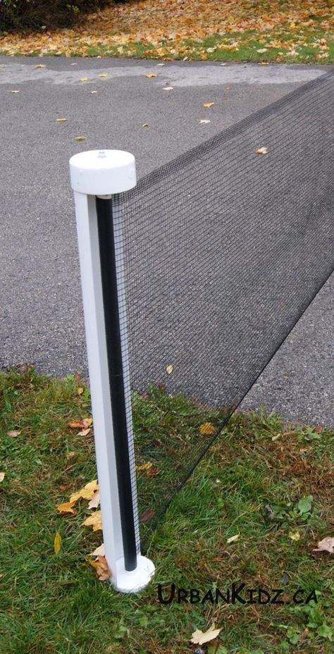 Driveway Safety; Outdoor; Barrier; Adjustable 25 Black Kidkusion Retractable Driveway Guard