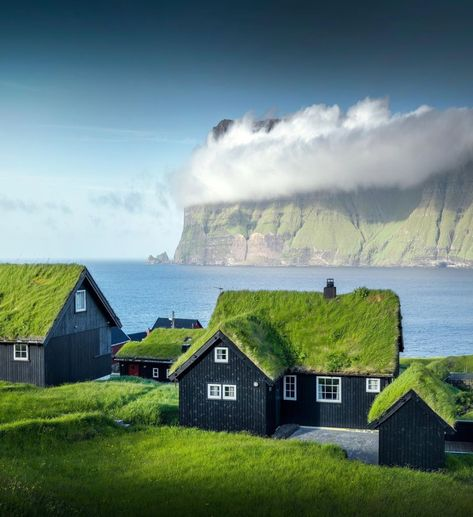 The Faroe Islands make part of the Danish-Kingdom Its name translates to Sheep Island . The Faroe Islands make part of the Danish-Kingdom Its name translates to Sheep Island Tag someone you would live here with! Wonderful Places, Beautiful Places, Beautiful Sky, Beautiful Flowers, Aarhus, Faroe Islands, Vacation Trips, Land Scape, Wonders Of The World