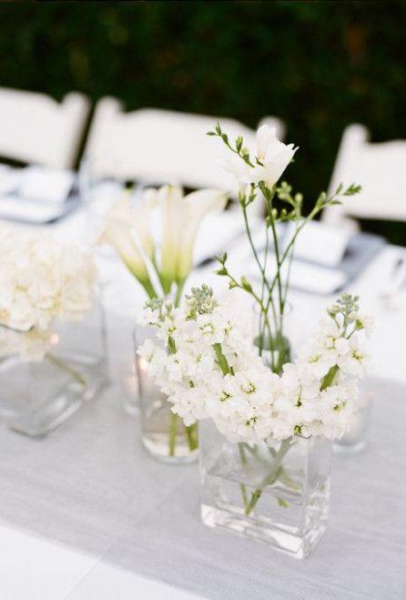 Simple Wedding Arrangements Centre Pieces Blue Wedding