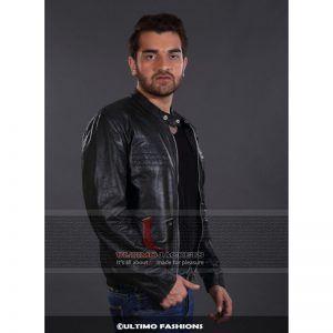 Men Black Biker Leather Jacket Black Leather Jacket Mens In 2020 Leather Jacket Black Leather Jacket Style Cafe Racer Leather Jacket