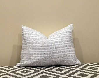 Sweater Pillow Cover Soft Gray Pillow Gray Knit Winter Home