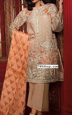 b529aeb354d Peach/Beige Organza Suit | Buy Beechtree Pakistani Dresses and ...
