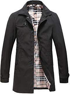 Pinkpum Homme Trench Coat Classique Manteau Coupe Vent
