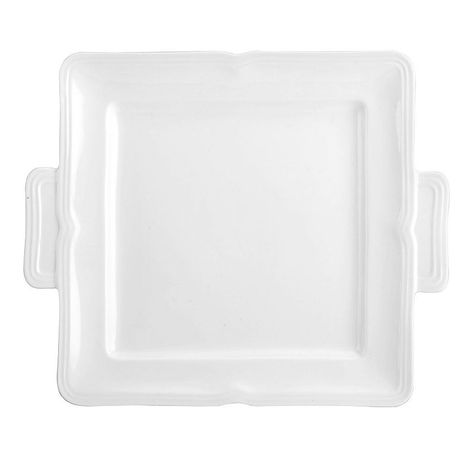 mikasa french countryside 11 in square dessert tray white