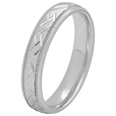 Women S Sterling Silver 4mm Basket Weave Wedding Band Womens