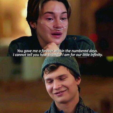 "Cannot watch this movie without sobbing- - movie: ""The Fault in our Stars""; based off the best seller by John Green- - hazelgracelancaster augustuswaters thefaultinourstars okay okay?okay shailenewoodley anselelgort johngreen sad movies quotes moviequotes Book Quotes Love, Series Quotes, Favorite Movie Quotes, Star Quotes, Life Quotes Love, Sad Movie Quotes, Quotes From Movies, Movie Quotes About Love, John Green Libros"