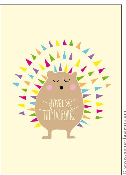 Joyeux Anniversaire Petit Hamster Carte Anniversaire Enfant Moins