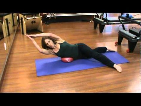 Pilates Exercises Using A Soft Ball Youtube Pilates Workout Yoga Ball Exercises Pilates Training