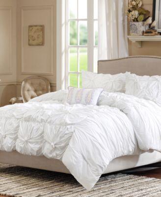 Madison Park Harlow 4-Pc. Full/Queen Comforter Set - White ...