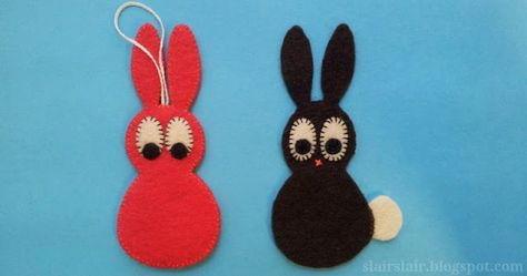 Felt or Appliqué Rabbit Pattern