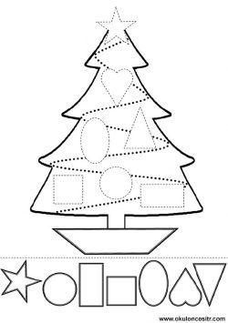 Cam Agaci Kalibi Noel Elisleri Okul Oncesi Ve Noel Dekorasyonlari