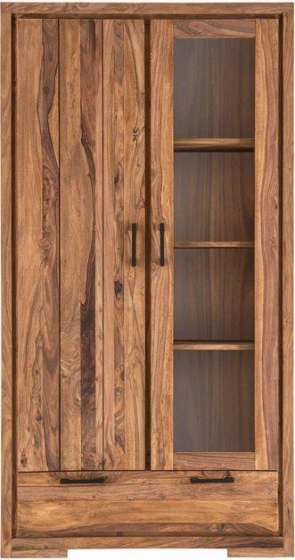 Sit Vitrine Sanam Aus Sheesham Holz Mit Ausdrucksstarker Maserung Online Kaufen Vitrine Holz Maserung