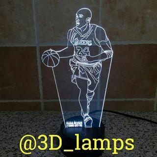 Kobe Bryant 3d Lamp 3d Led Lamp 3d Lamp Lamp
