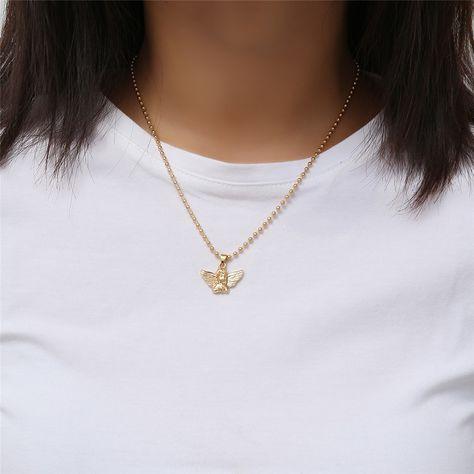 Angel Pendant Choker Necklace $9.90