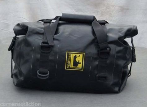 Wolfman Expedition Dry Duffel Bag Large Waterproof Bag BLACK ... b7e2372193ba6