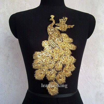 Sequin Motif Lace Applique Trims Dance Wedding Bridal Embroidery Sew DIY Craft