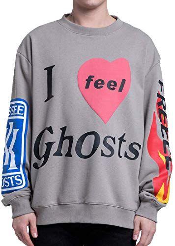 NAGRI Kanye Lucky Me I See Ghosts Sweatshirts Hip Hop Hooded Hoodie Grey