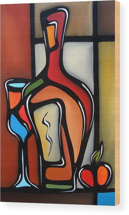 Tannins By Fidostudio Wood Print By Tom Fedro In 2021 Painting Pop Art Collage Art