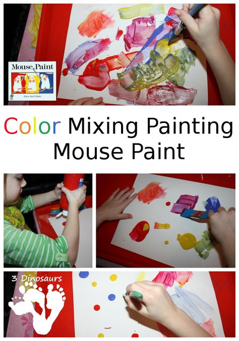 Color Mixing Painting – Mouse Paint - 3Dinosaurs.com