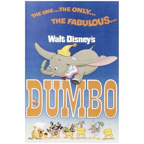 Dumbo: Movie Poster Mural - Officially Licensed Disney Removable Wall Adhesive Decal Large by Fathead | Vinyl