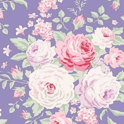 Tilda LazyDays Frances Pink Green 100/% Cotton Fabric Floral Flowers Abstract NEW