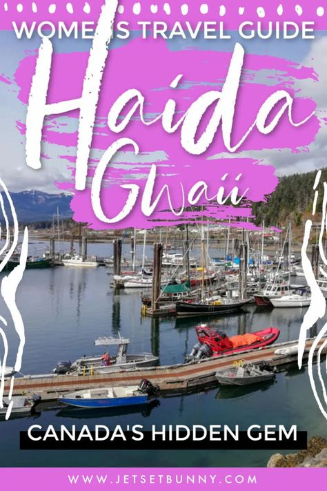 For those interested in exploring Haida Gwaii too, this place is accessed by plane and boat with flights departing Vancouver to Sandspit a few times a week, followed by a ferry to Graham, the most inhabited village in Haida Gwaii and one of only two villages with roads. #HaidaGwaii #canada #travel #trip #wanderlust #budgettravel #adventures #travelblog #womentravelers #travelblogger #adventuretravel #solotravel #solofemaletravel #traveltips #travelhacks #bucketlist
