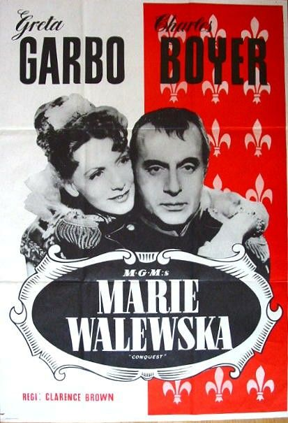 Conquest Greta Garbo vintage movie poster #2