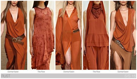 Top 10 Women's colors for Spring / Summer 2015, by Fashion Snoops. Rust presents itself as the most forward fashion color in Desert Neutrals.