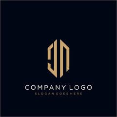 Jn Letter Logo Icon Design Template Elements Affiliate Logo Letter Jn Icon Elements Ad Letter Logo Logo Icons Cool Lettering