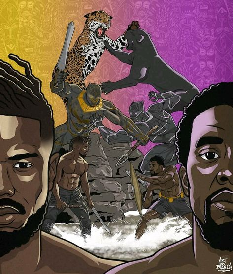 This is 🔥🔥🔥 Black Panther Fan Art (@riotwithblanco)