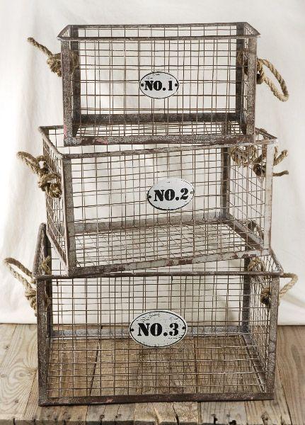 Best 25+ Metal Baskets Ideas On Pinterest | Kitchen Counter Decorations, Wire  Basket Decor And Old Farmhouse Kitchen