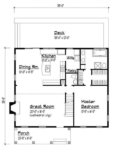 Country Southern House Plan 41000 Level One