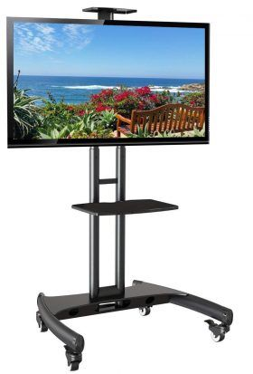 Top 10 Best Rolling Tv Stands In 2020 Mobile Tv Stand Flat