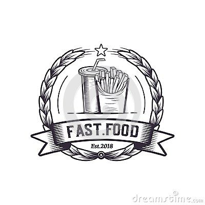 Fast Food Retro Illustration Vector Vintage Logo Design Cheese Hot Dog Rustic Premium Quality Tasty Food Logo Fast Food Logos Retro Illustration Logo Food