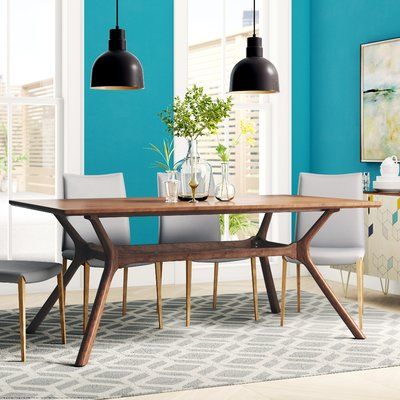 Langley Street Cassius Trestle Dining Table Dining Table In Kitchen Wood Dining Table Trestle Dining Tables
