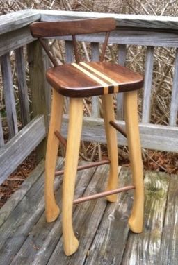 Hand Made Walnut And Maple Bar Stools By Drew Lambert Designs