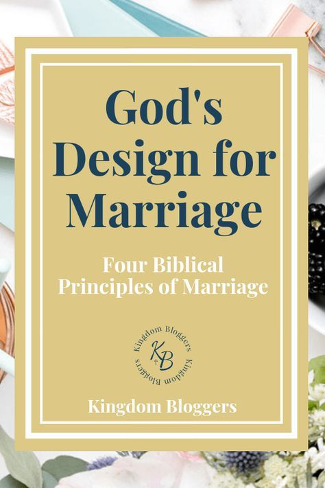 God's design for marriage is divine. Following these four Biblical principles for marriage will help grow your marriage. #christianmarriage #marriagetips #biblicalmarriageadvice #christianbloggers