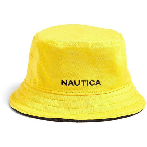 4d3d02a8 Nautica Reversible Bucket Hat ($20) ❤ liked on Polyvore featuring men's  fashion, men's