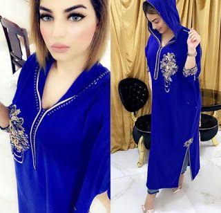 الأزرق ملكي لون المفضل عند بزاف ديال النساء وهادو بعض الموديلات Fashion Fashion Outfits Muslim Women Fashion