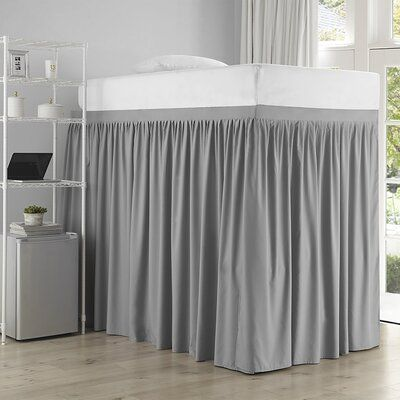 Rosdorf Park Johan Pleated 3 Panel Bed Skirt Set Colour Alloy Size Twin Xl Extended Twin Xl How To Make Bed Bed Sizes