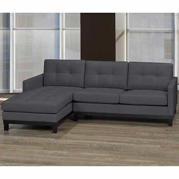 Ashton Top Grain Leather Sofa With Left Hand Facing Chaise Top Grain Leather Sofa White Leather Sofas Leather Sofa