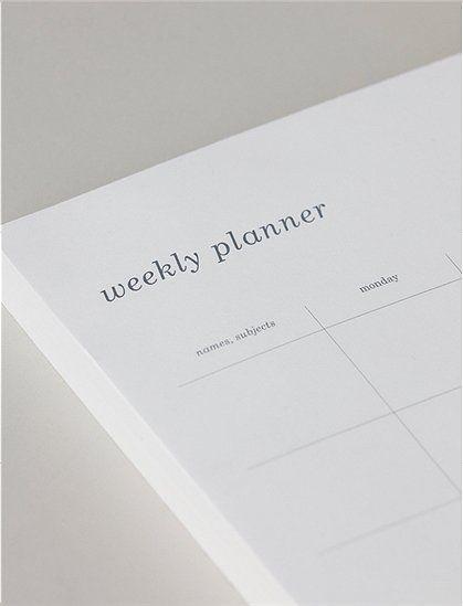 Monograph Wochenplaner