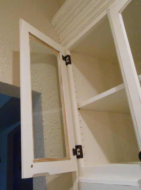 DIY Changing Solid Cabinet Doors to Glass Inserts   Glass ...