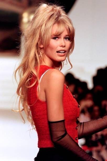 Claudia Schiffer Hair Styles Long Hair Styles Claudia Schiffer