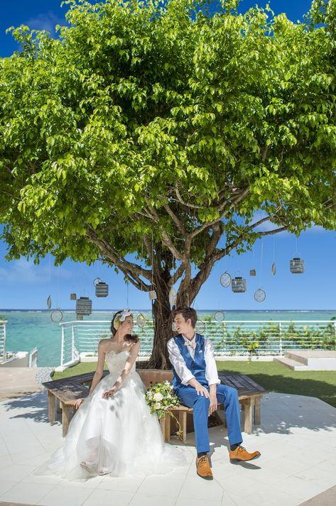 青々とした自然と海をバッグにパチリ!グアムでの結婚式一覧♪ウェディング・ブライダルの参考に!
