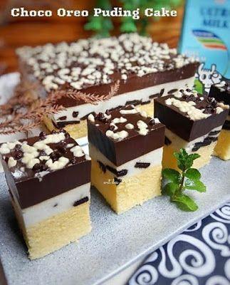 Oreo Choco Puding Cake Puding Resep Oreo