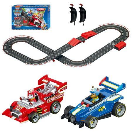 Carrera Go Battery Operated 1 43 Scale Paw Patrol 14 Slot Car Race Track Set With Jump Ramp Featuring Chase Versus Marshall Walmart Com In 2021 Slot Car Race Track Slot Car