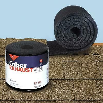 Details About Cobra Exhaust Vent Weather Filter 10 1 2 In X 20 Ft Mesh Roll Ridge Vent Black In 2020 Exhaust Vent Ridge Vent Roll Roofing