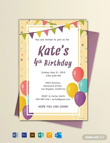 15 Format Of Free Publisher Birthday Invitation Templates And Review Free Birthday Invitations Party Invite Template Free Party Invitation Templates