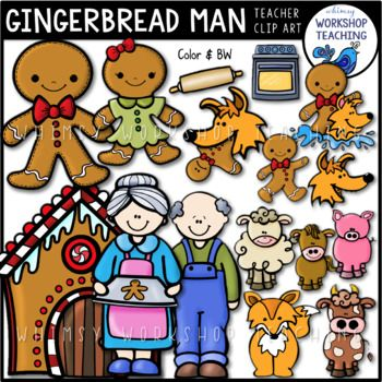Gingerbread Man Clip Art This Fun And Versatile Set Has Everything You Need To Illustrate The Gingerbread Man Fairy Tal Gingerbread Man Clip Art Free Clip Art